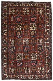 Bakthiari Covor 204X312 Orientale Lucrat Manual Roșu-Închis/Negru (Lână, Persia/Iran)