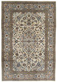 Kashan Covor 195X288 Orientale Lucrat Manual Gri Închis/Gri Deschis (Lână, Persia/Iran)