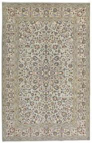 Kashan Covor 190X301 Orientale Lucrat Manual Gri Deschis/Gri Închis (Lână, Persia/Iran)