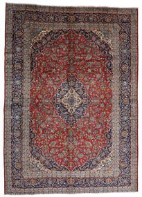 Kashan Covor 287X403 Orientale Lucrat Manual Roșu-Închis/Maro Închis Mare (Lână, Persia/Iran)
