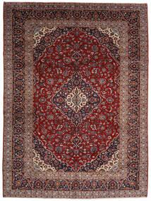 Kashan Covor 294X400 Orientale Lucrat Manual Roșu-Închis Mare (Lână, Persia/Iran)