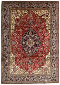 Tabriz Covor 254X357 Orientale Lucrat Manual Maro Închis/Verde Oliv Mare (Lână, Persia/Iran)