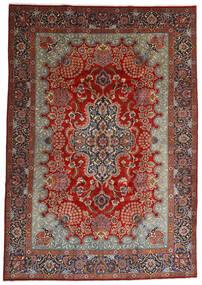 Mashhad Covor 247X350 Orientale Lucrat Manual Maro Închis/Roșu-Închis (Lână, Persia/Iran)