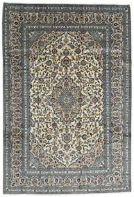Kashan Covor 242X355 Orientale Lucrat Manual Gri Închis/Gri Deschis (Lână, Persia/Iran)