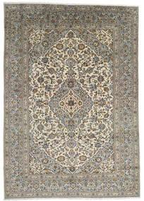 Kashan Covor 247X348 Orientale Lucrat Manual Gri Închis/Gri Deschis (Lână, Persia/Iran)
