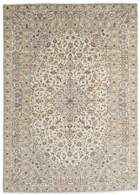 Kashan Covor 253X352 Orientale Lucrat Manual Gri Deschis/Bej Închis/Bej Mare (Lână, Persia/Iran)
