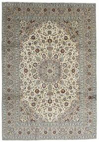 Kashan Covor 251X357 Orientale Lucrat Manual Gri Închis/Gri Deschis Mare (Lână, Persia/Iran)