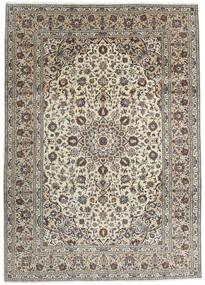 Kashan Covor 250X348 Orientale Lucrat Manual Gri Deschis/Gri Închis Mare (Lână, Persia/Iran)