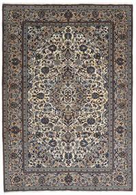 Kashan Covor 237X343 Orientale Lucrat Manual Gri Închis/Gri Deschis (Lână, Persia/Iran)