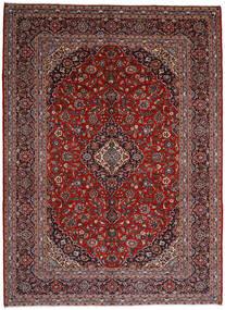 Kashan Covor 297X409 Orientale Lucrat Manual Roșu-Închis/Negru Mare (Lână, Persia/Iran)