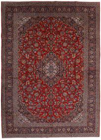 Kashan Covor 299X416 Orientale Lucrat Manual Roșu-Închis/Gri Închis Mare (Lână, Persia/Iran)