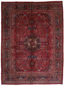Mashhad Covor 306X408 Orientale Lucrat Manual Roșu-Închis/Maro Închis Mare (Lână, Persia/Iran)