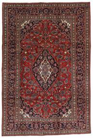 Mashhad Covor 196X290 Orientale Lucrat Manual Roșu-Închis/Negru (Lână, Persia/Iran)