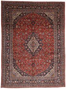 Kashan Covor 317X402 Orientale Lucrat Manual Roșu-Închis/Gri Închis Mare (Lână, Persia/Iran)