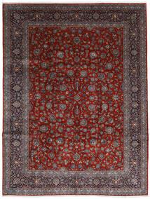 Kashan Covor 278X367 Orientale Lucrat Manual Roșu-Închis/Maro Închis Mare (Lână, Persia/Iran)