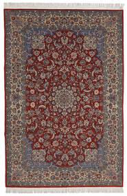 Isfahan Sherkat Farsh Covor 200X300 Orientale Lucrat Manual Roșu-Închis/Maro Închis (Lână/Mătase, Persia/Iran)
