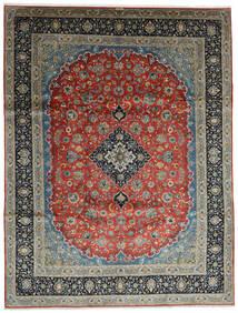Kashan Covor 296X388 Orientale Lucrat Manual Gri Închis/Verde Închis Mare (Lână, Persia/Iran)