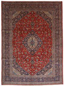 Kashan Covor 296X402 Orientale Lucrat Manual Roșu-Închis/Gri Deschis Mare (Lână, Persia/Iran)