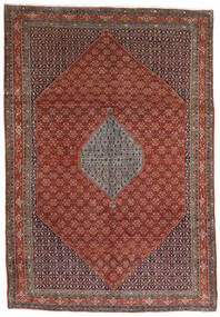 Bidjar Covor 221X320 Orientale Lucrat Manual Maro Închis/Roșu-Închis (Lână, Persia/Iran)