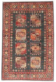 Kazak Covor 118X179 Orientale Lucrat Manual Roșu-Închis/Gri Închis (Lână, Afganistan)