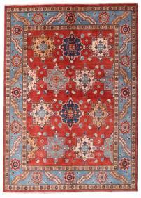 Kazak Covor 144X203 Orientale Lucrat Manual Roșu-Închis/Ruginiu (Lână, Afganistan)