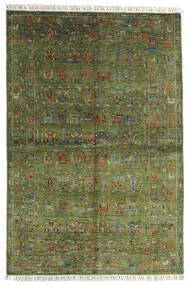 Sharbargan Covor 168X249 Modern Lucrat Manual Verde Oliv/Verde Închis (Lână, Afganistan)