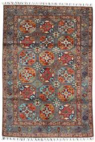 Shabargan Covor 119X172 Modern Lucrat Manual Roșu-Închis/Negru (Lână, Afganistan)