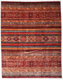 Sharbargan Covor 242X301 Modern Lucrat Manual Roșu-Închis/Gri Închis (Lână, Afganistan)