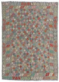 Chilim Afghan Old Style Covor 165X229 Orientale Lucrate De Mână Gri Deschis/Gri Închis (Lână, Afganistan)