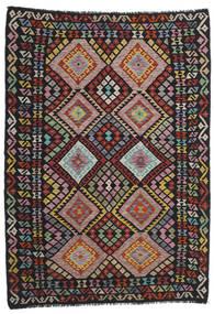 Chilim Modern Covor 176X244 Modern Lucrate De Mână Negru/Roșu-Închis (Lână, Afganistan)