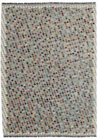 Chilim Afghan Old Style Covor 169X234 Orientale Lucrate De Mână Gri Deschis/Gri Închis (Lână, Afganistan)