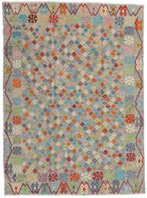 Chilim Afghan Old Style Covor 173X232 Orientale Lucrate De Mână Gri Deschis/Gri Închis (Lână, Afganistan)