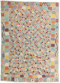 Chilim Afghan Old Style Covor 165X232 Orientale Lucrate De Mână Gri Deschis/Roz Deschis (Lână, Afganistan)