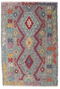 Chilim Afghan Old Style Covor 100X148 Orientale Lucrate De Mână Gri Deschis/Gri Închis (Lână, Afganistan)