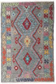 Chilim Afghan Old Style Covor 97X147 Orientale Lucrate De Mână Gri Închis/Gri Deschis (Lână, Afganistan)