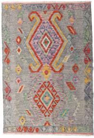 Chilim Afghan Old Style Covor 101X148 Orientale Lucrate De Mână Gri Deschis/Maro Deschis (Lână, Afganistan)