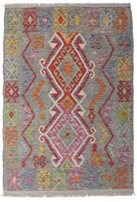 Chilim Afghan Old Style Covor 100X146 Orientale Lucrate De Mână Gri Deschis/Gri Închis (Lână, Afganistan)