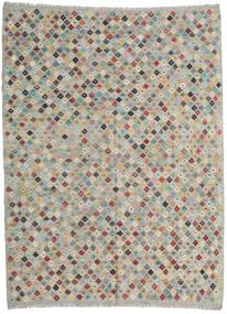 Chilim Afghan Old Style Covor 211X282 Orientale Lucrate De Mână Gri Deschis (Lână, Afganistan)
