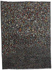 Chilim Modern Covor 214X288 Modern Lucrate De Mână Negru (Lână, Afganistan)