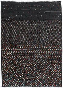 Chilim Modern Covor 206X277 Modern Lucrate De Mână Negru (Lână, Afganistan)
