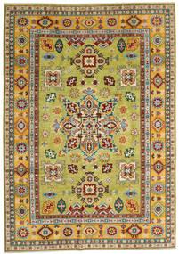 Kazak Covor 205X289 Orientale Lucrat Manual Roșu-Închis/Galben (Lână, Afganistan)
