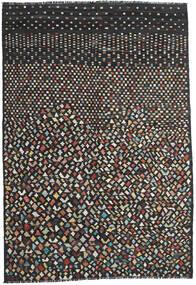 Chilim Modern Covor 202X292 Modern Lucrate De Mână Negru/Gri Închis (Lână, Afganistan)