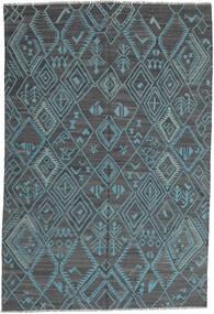 Chilim Modern Covor 197X291 Modern Lucrate De Mână Albastru Deschis/Albastru (Lână, Afganistan)