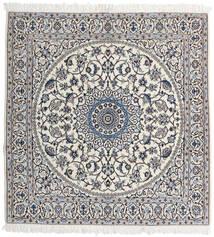 Nain 9La Covor 147X153 Orientale Lucrat Manual Pătrat Gri Deschis/Bej (Lână/Mătase, Persia/Iran)