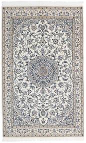 Nain 9La Covor 127X202 Orientale Lucrat Manual Gri Deschis/Gri Închis/Bej (Lână/Mătase, Persia/Iran)