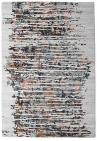 Damask Collection Covor 159X230 Modern Lucrat Manual Gri Deschis/Maro Închis ( India)
