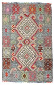 Chilim Afghan Old Style Covor 98X152 Orientale Lucrate De Mână Gri Deschis/Gri Închis (Lână, Afganistan)