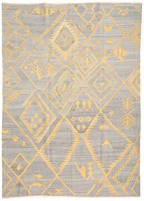 Chilim Ariana Covor 208X287 Modern Lucrate De Mână Gri Deschis/Bej (Lână, Afganistan)
