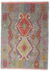 Chilim Afghan Old Style Covor 103X144 Orientale Lucrate De Mână Gri Deschis/Maro Deschis (Lână, Afganistan)
