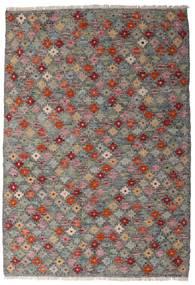Chilim Afghan Old Style Covor 107X155 Orientale Lucrate De Mână Gri Închis/Gri Deschis (Lână, Afganistan)